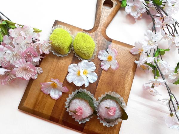 桜餅とうぐいす餅